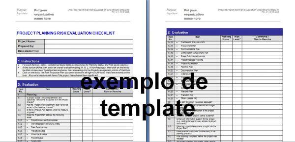 Check List de avaliação de Riscos do projeto - TEMPLATES DE ...