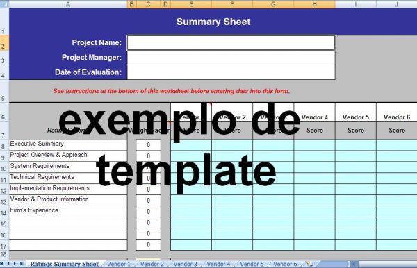 formul u00e1rio de avalia u00e7 u00e3o de propostas de fornecedores